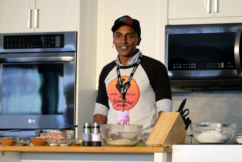 Red Rooster's chef and owner, Marcus Samuelsson, attends Harlem EatUp!: The Sunday Stroll at Morningside Park on May 22, 2016, in New York City.