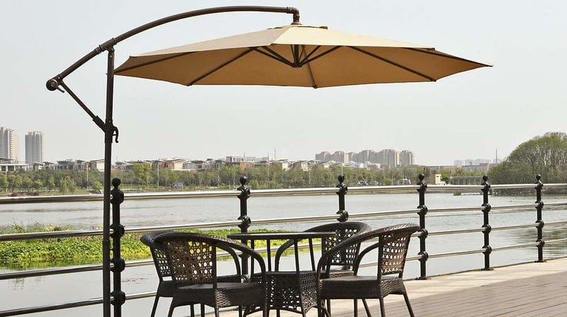 Le Papillon Hanging Patio Umbrella | $50 | Amazon | Clip $10 coupon and use promo code 7W879W6B