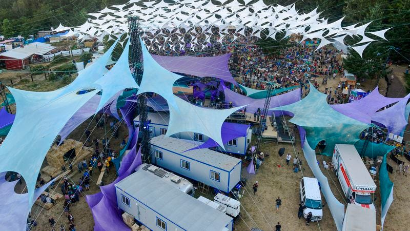 Aerial view of Pickathon 2016 (Photo: Getty Images/Redferns, Anthony Pidgeon)
