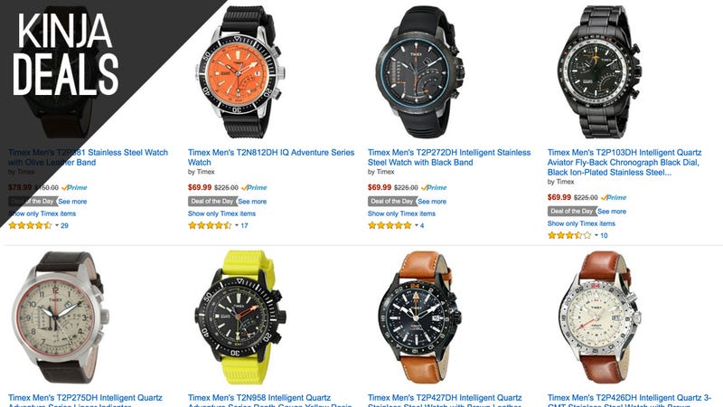 Illustration for article titled Strap a New Timex To Your Wrist For $65-$90, Today Only