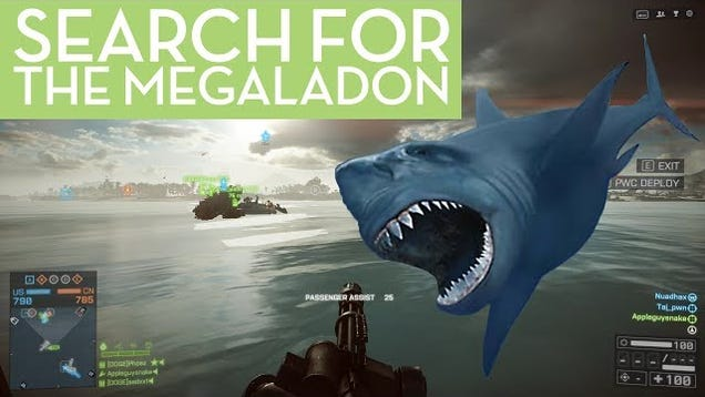 Watch These BF4 Players Search For A Mythical Hidden Shark