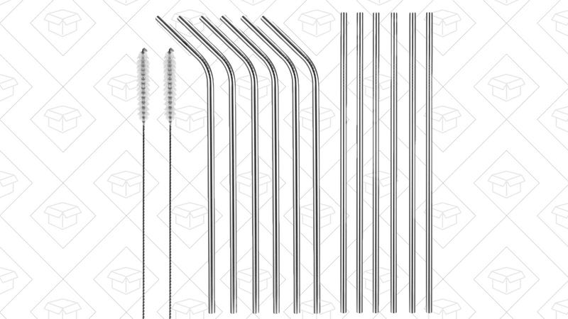 12-Pack Stainless Steel Drinking Straws, $9 with code32WPXNOD