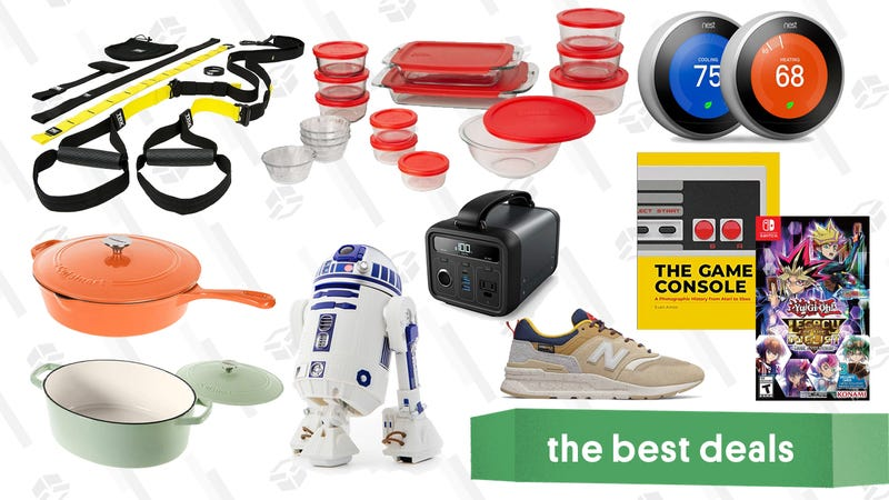 Illustration for article titled Wednesday's Best Deals: Cuisinart Cast Iron Gold Box, Pyrex, Sphero R2-D2, Adidas, and More