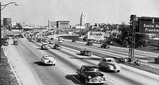 Illustration for article titled Progress, Metastasis, Whatever: LA's Freeways Take Shape