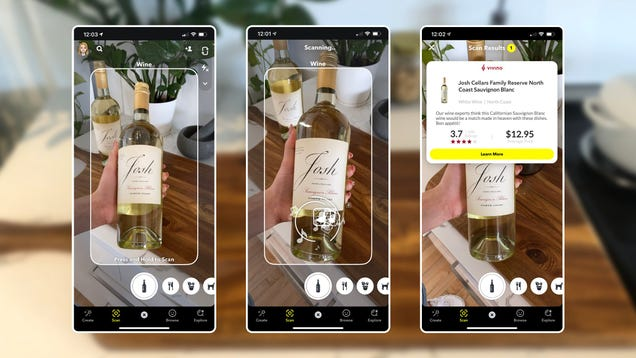 How to Scan a Barcode With Snapchat for Wine and Nutrition Info