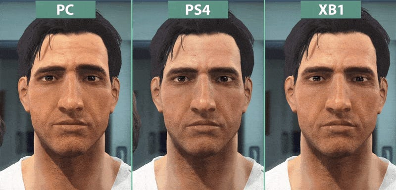 Xbox One Vs Ps4 Graphics Side By Side Fallout 4: PC vs PS4 v...