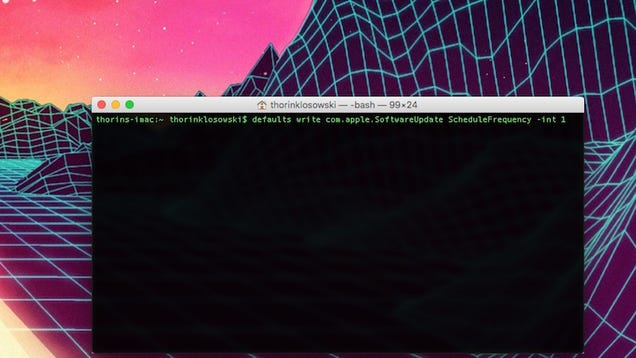 Change a Mac s Software Update Frequency with a Terminal Command