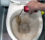 how to clean scale from toilet