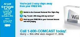 Illustration for article titled Comcast's Free Wii Offer Gets Official