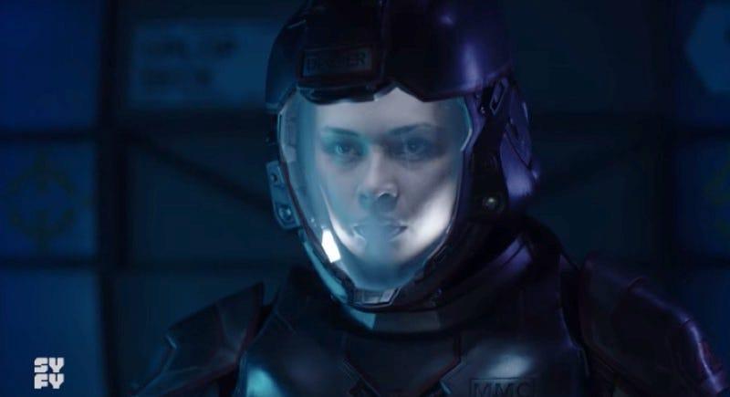 The Expanse's resident Martian badass, Bobbie Draper (Frankie Adams).
