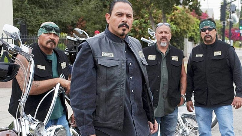 The Mayans MC, as seen on Sons Of Anarchy (Image: FX)