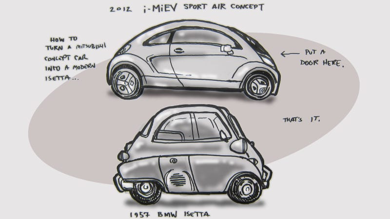 Illustration for article titled Mitsubishi Is One Door Away From Making A Modern Isetta