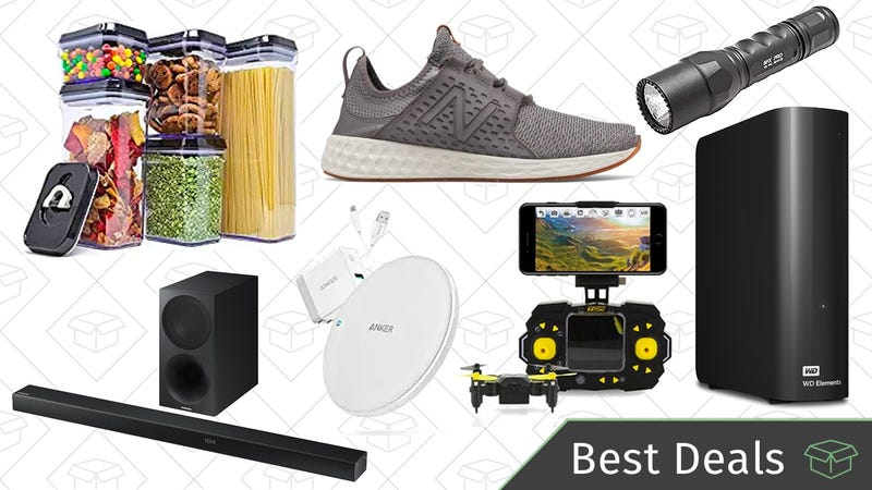 Illustration for article titled Tuesday's Best Deals: External Hard Drive, Qi Chargers, New Balance Sale, and More