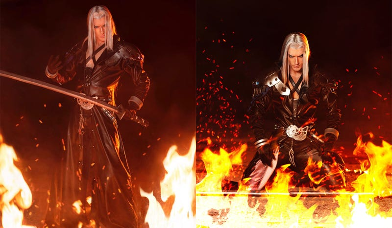 Illustration for article titled Sephiroth Cosplay Rises From The Flames