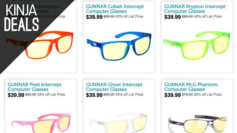 Illustration for article titled Give Your Eyes a Rest With These Discounted Gunnar Computing Glasses