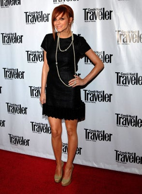 Illustration for article titled Ashlee Simpson Looks Cute, Not Pregnant, At Conde Nast Traveler Party
