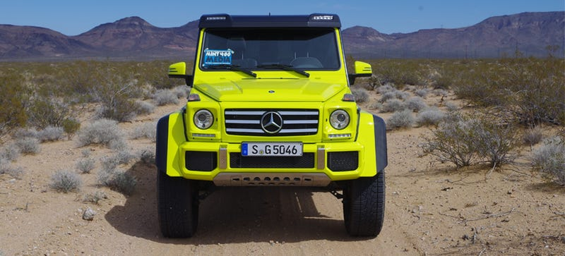 Illustration for article titled What Do You Want To Know About The Mercedes G500 4x4²?