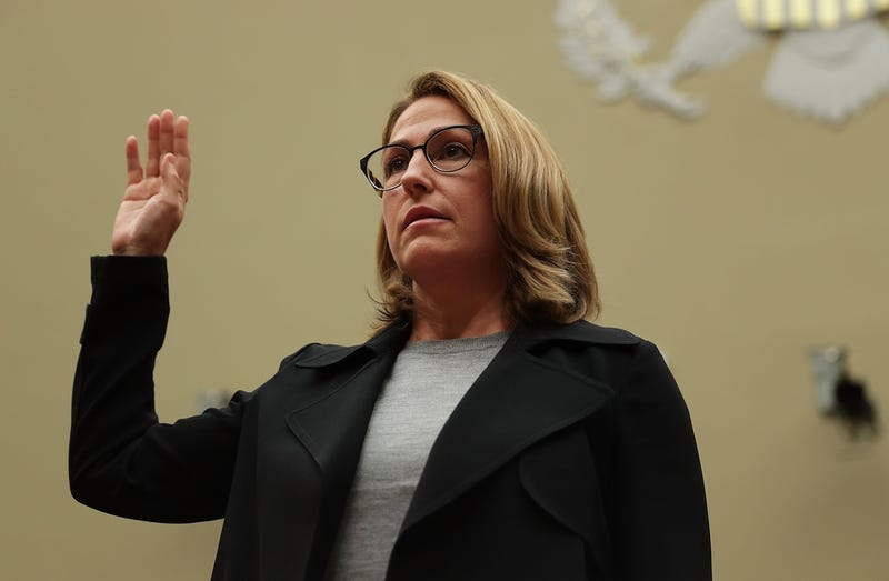 Mylan CEO Heather Bresch is sworn in during a hearing before the House Oversight and Government Reform Committee before immediately lying to said Committee on September 21, 2016 (Photo by Alex Wong/Getty Images)
