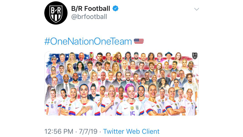 Illustration for article titled Bleacher Report Deletes Tweet Containing God-Awful USWNT Graphic