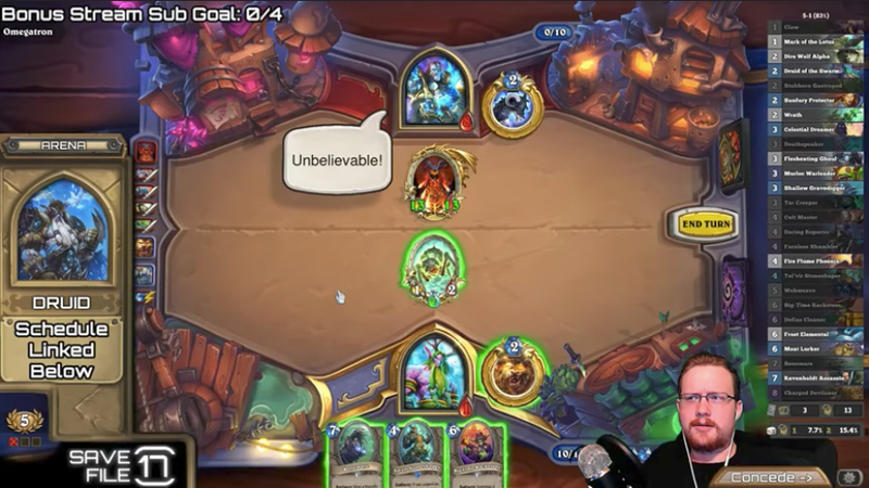 Illustration for article titled HearthstonePlayer Tries To Showboat, Screws Up, Loses