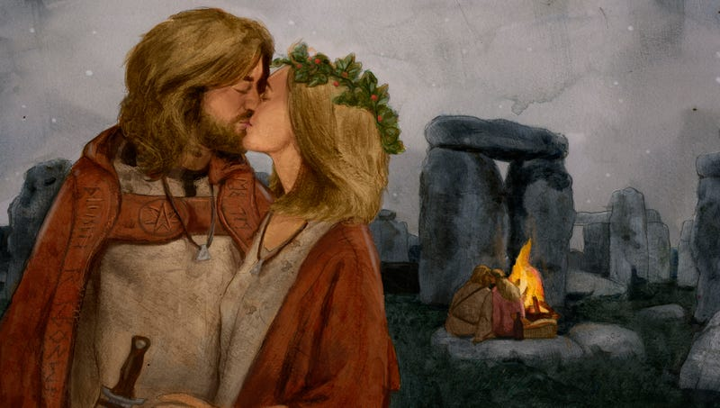 Illustration for article titled Historians Uncover Evidence Stonehenge Once Prominent Druid Make-Out Spot