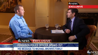 The second installment of George Stephanopoulos' interview with Darren Wilson aired Wednesday morning on Good Morning America.ABC News screenshot