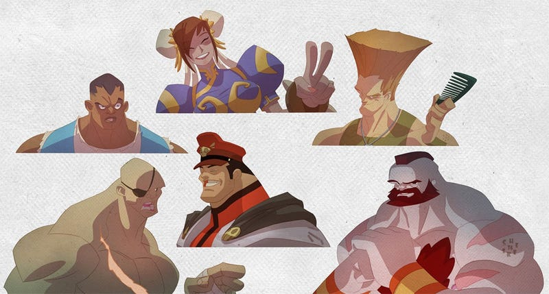 Illustration for article titled Street Fighter's World Warriors Get A 'Toon Makeover