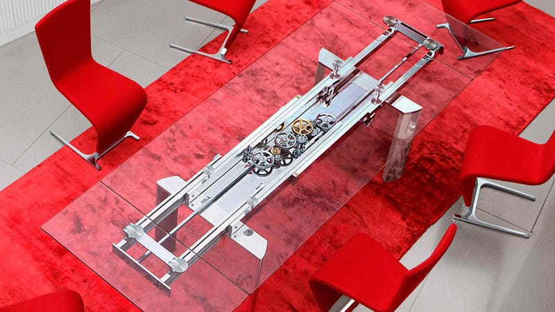Awesomely Over Engineered Extending Glass Table Will