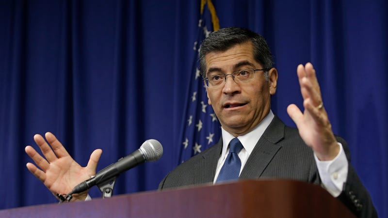 California Attorney General Xavier Becerra. Photo: AP