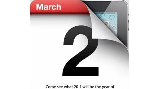 Illustration for article titled Apple Confirms March 2 iPad Event