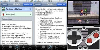 Illustration for article titled N64 Emulator Hits Jailbroken iPhones, With Bluetooth Wiimote Support