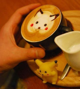 Illustration for article titled Would You Like a Little Pikachu On That Latte?