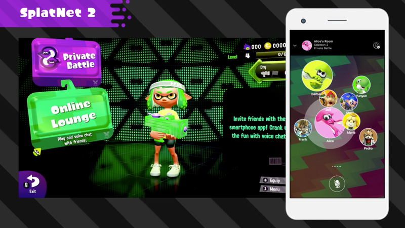 Illustration for article titled The Nintendo Switch Phone App Goes Live With Splatoon 2