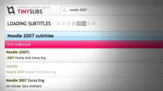 Illustration for article titled TinySubs Is Instant Search for Movie Subtitles