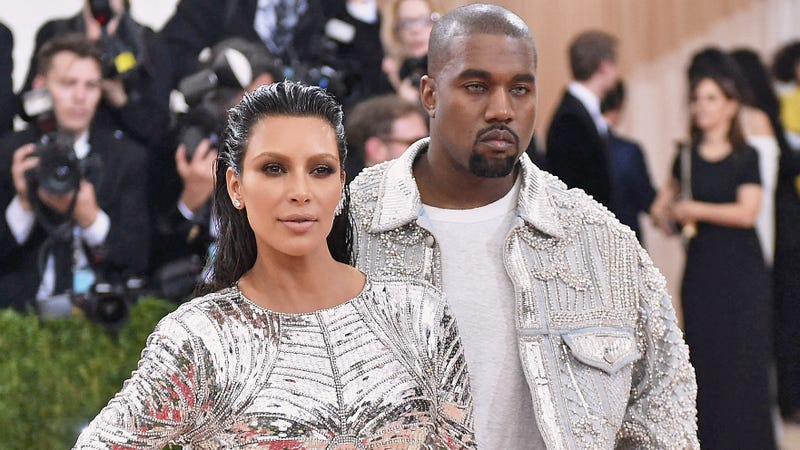 Kim Kardashian and Kanye West attend the Manus x Machina: Fashion In an Age of Technology Costume Institute Gala at Metropolitan Museum of Art on May 2, 2016, in New York City.