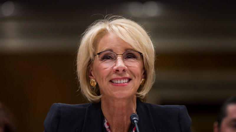 Illustration for article titled Betsy DeVos Continues to Deliver a Big Fuck You to Survivors of Sexual Assault