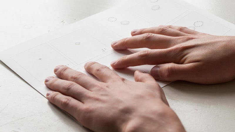 Illustration for article titled An Interaction Designer Creates a Tactile Comic Book  For the Blind