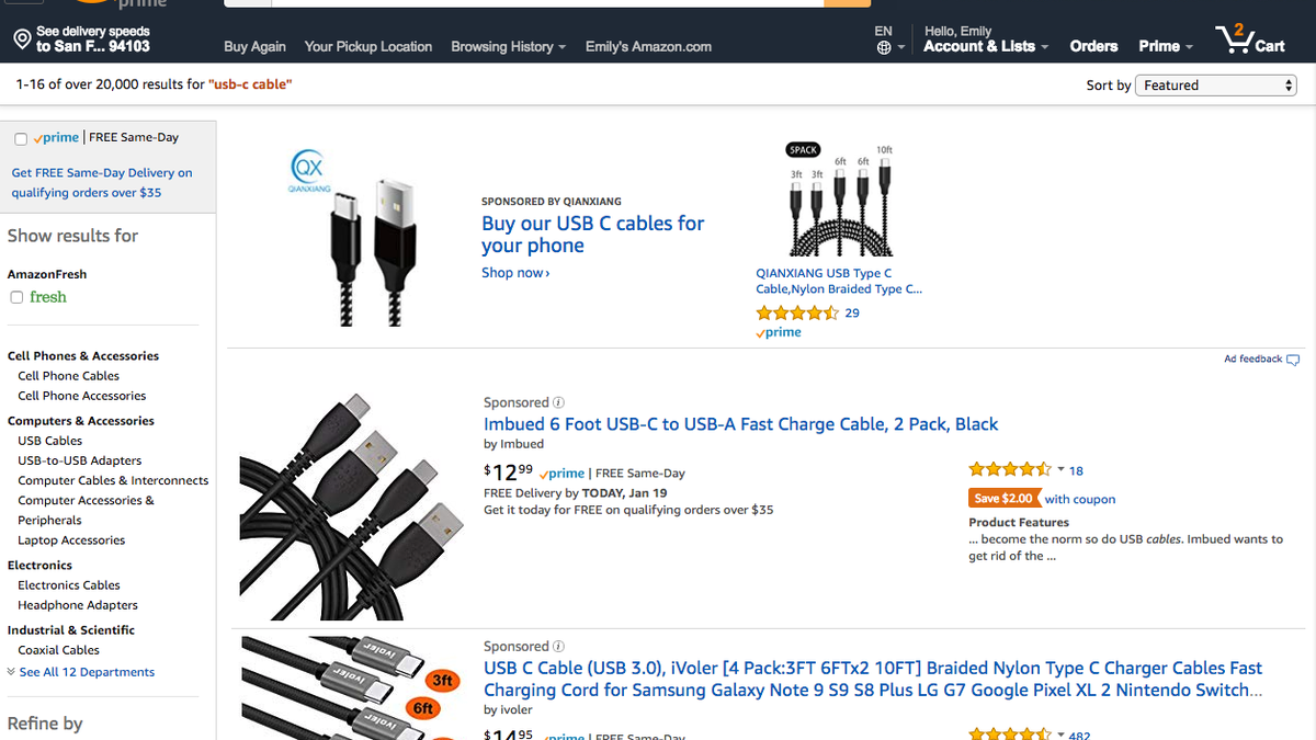 Remove All The Ads and Sponsored Products From Amazon With This