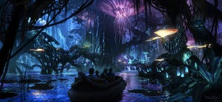 Illustration for article titled Behold the glowing concept art for Disney's Avatar theme park