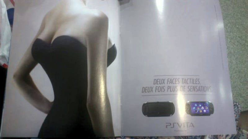 Illustration for article titled In France, the PS Vita Is Being Promoted with Four Breasts