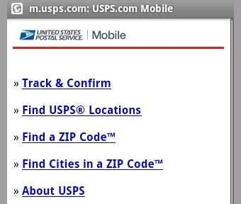 Illustration for article titled USPS Mobile Tracks Packages from Your Cellphone
