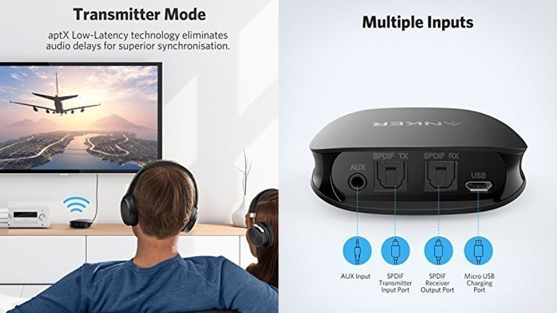 Anker SoundSync Bluetooth Transmitter/Receiver | $34 | Amazon