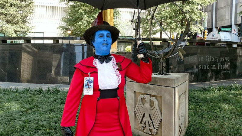Kinja user Mea.Glitch's Yondu/Mary Poppins mashup was a delight.