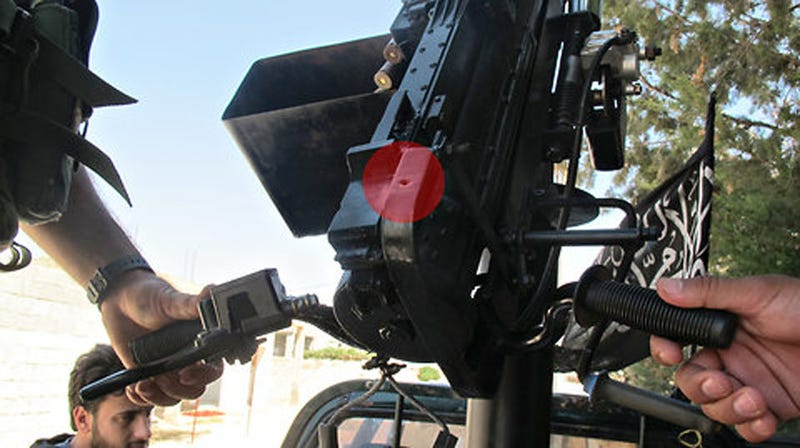 Illustration for article titled Syrian Rebels Hack Together Digital Cameras To Replace Machine Gun Scopes