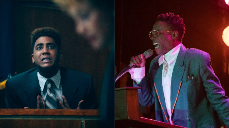 Jharrel Jerome, left, in When They See Us; Billy Porter in Pose