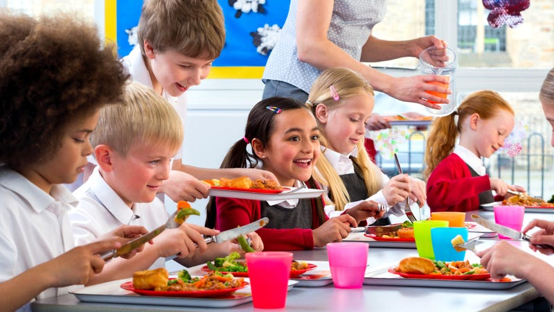 Illustration for article titled Trump administration rolls back school-lunch guidelines for non-fat milk, whole grains