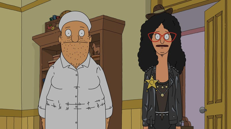 Teddy and Linda try their hardest in a fun Halloween Bob's Burgers