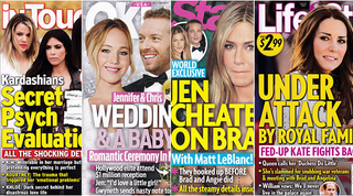 Illustration for article titled This Week In Tabloids: JLaw Wants Chris Martin to Impregnate Her