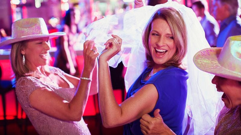 Illustration for article titled Terrifying Uniformed Bachelorette Party Storms Local Bar