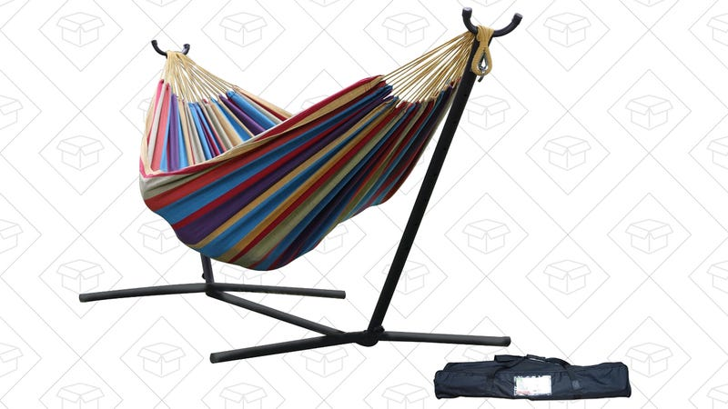 Double Hammock with Stand, $80
